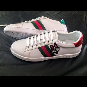 NIB Men's Gucci Ace Dog Sneakers